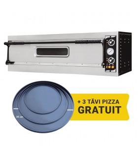 Cuptor electric pizza Basic XL 3L cu o cameră, 3 pizza 35 cm, uşă cu geam