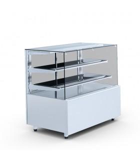 Vitrină cofetărie refrigerare, 2 polițe, Gastroline Cube 1.3W 2P lungime 1310mm
