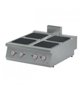 Mașină de gătit electrică de banc 4 plite pătrate linia 900 EKO9020K