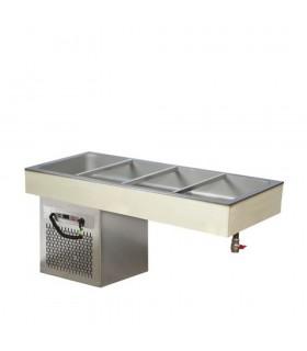 Vitrină frigorifică încorporabilă (drop-in) tip bazin 4xGN1/1 CSG4 1434mm