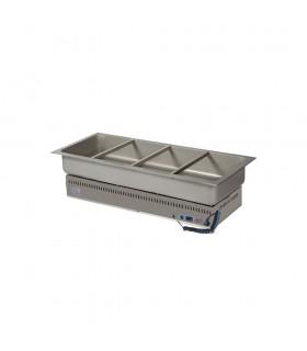 Vitrină caldă încorporabilă (drop-in) tip bazin 4xGN1/1 HSG4 1434mm