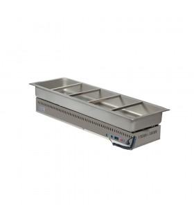 Vitrină caldă încorporabilă (drop-in) tip bazin 5xGN1/1 HSG5 1754mm