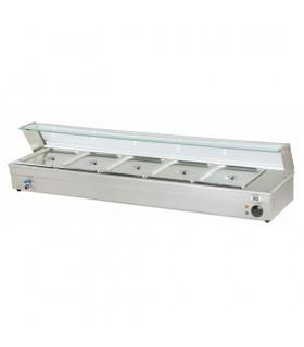 Vitrină caldă bain marie 5 x GN 1/2 BM105