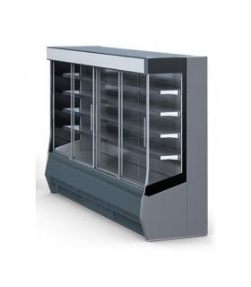 Vitrină frigorifică verticală cu uși culisante Timor panouri exterioare gri 2.5