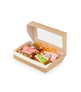Cutie Alimente 500 ml Biodegradabilă-Reciclabilă, ECO ТABOX 500, 170x70x40 mm, set 100 bucăți