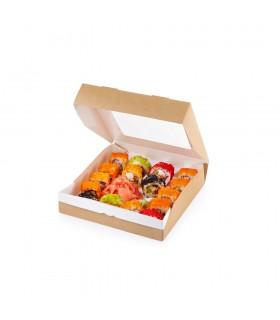 Cutie Alimente 1000 ml Biodegradabilă-Reciclabilă, ECO ТABOX 1000, 200x120x40 mm, set 100 bucăți