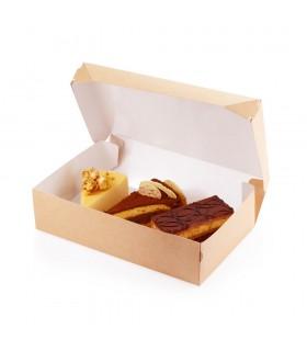 Cutie Prajituri 1200 ml Biodegradabilă-Reciclabilă, ECO СAKE 1200 WHITE, 150x100x85 mm, set 100 bucăți