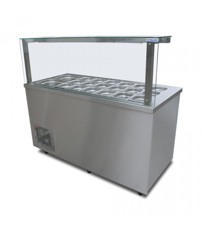 Vitrină frigorifică expunere ingrediente IGG