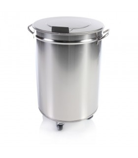 Coș de gunoi din inox, capac detașabil 95 litri
