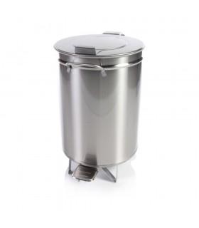 Coș de gunoi din inox, cu pedală, 50 litri