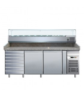 Masă frigorifică preparare pizza sertare & 2 uși PZ2610TN