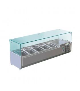 Vitrină frigorifică ingrediente pizza 5 GN1/4 - RI12033V