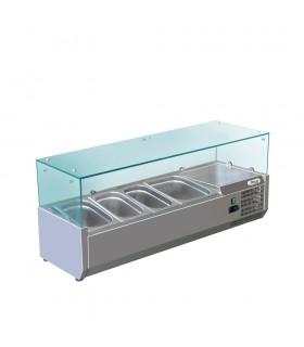 Vitrină frigorifică ingrediente pizza 3 GN1/3 + 1GN1/2 - RI12038V