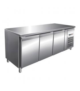 Masă frigorifică inox 3 uși, inox, răcire ventilată lățime 700 mm G-GN3100TN