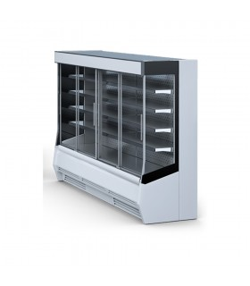 Vitrină frigorifică verticală, uși culisante, răcire ventilată, panouri laterale sticlă, Timor 1.0