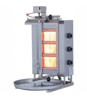 Aparat kebab pe gaz 3 arzătoare | motor superior | ADG-3U