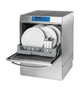 Mașină profesională de spălat vase, comenzi digitale, cu pompă evacuare, 3 coșuri incluse 500x500mm Stalgast 801556