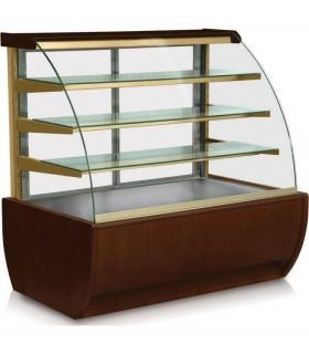 Vitrină frigorifică de cofetărie Jamajka 1.3W (07), panouri exterioare din lemn