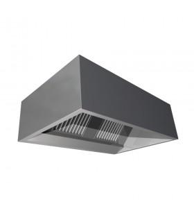 Hotă de perete monobloc, inox 304, fără ventilație, lățime 2400 mm