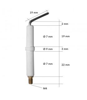 Bujie electrod aprindere R7 x 44mm