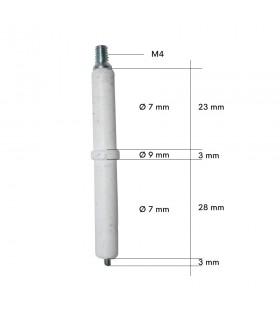 Electrod aprindere ø7 x 54mm