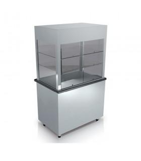 Vitrină frigorifică verticală pentru salate, deserturi sau băuturi, lungime 900 mm