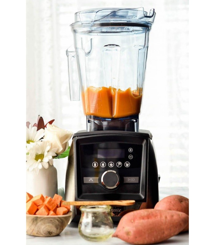 Blender Vitamix A3500i Ascent, 1400 W, 2l, 2,3 Cai putere, 5 programe prestabilite, conectare wireless, timer digital, Inox