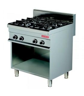 Mașină de gătit 4 focuri dulap deschis linia 600