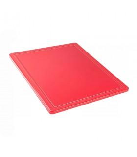 Tocător roșu polietilenă, 265x325x12 mm - GN1/2