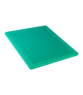 Tocător verde polietilenă, 265x325x12 mm - GN1/2