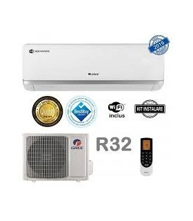 Aer conditionat Gree Bora A2 White 12000 BTU, Clasa A++, Wi-Fi, inverter, Kit instalare inclus