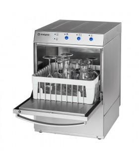 Mașină de spălat pahare cu pompă de evacuare, dispenser detergent și sistem clătire, coșuri 400x400mm 801401