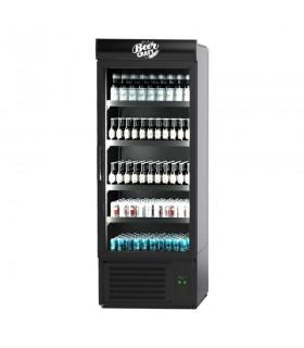 Vitrina frigorifica verticala Jola 700.1 Drinks, panouri exterioare negre