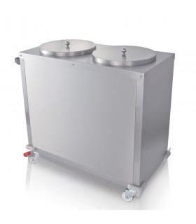 Dispenser încălzit 2 x 50 farfurii Ø320 mm