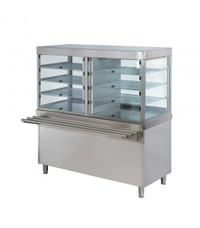 Vitrină frigorifică verticală pentru salate, deserturi sau băuturi, lungime 1500 mm