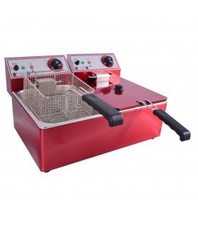 Friteuză electrică fast food dublă 6+6 litri FRI04015