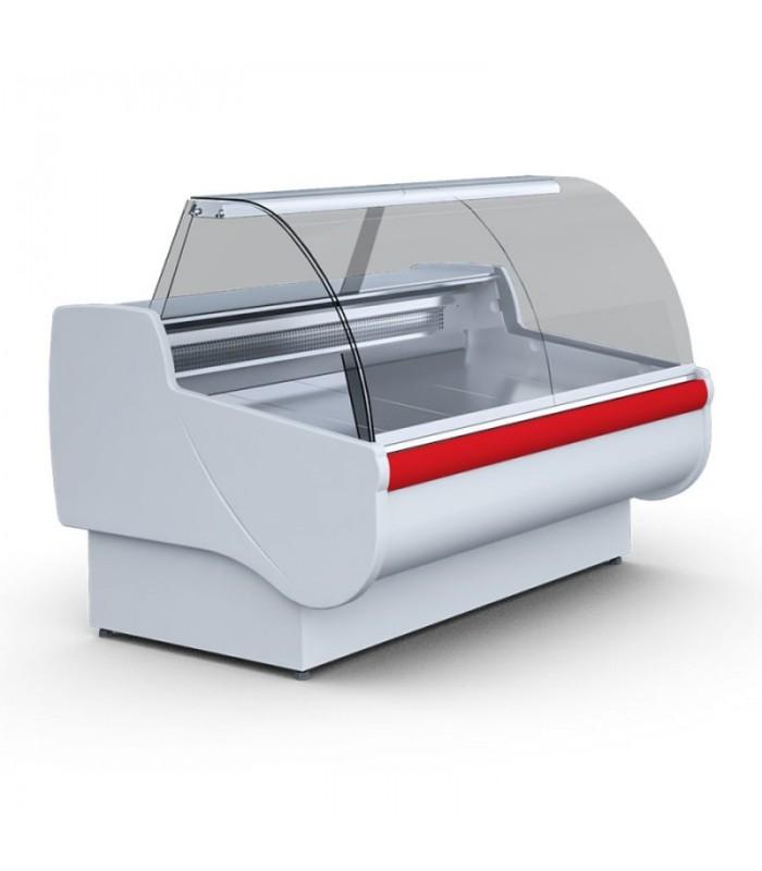 Vitrină frigorifică orizontală Basia 2.1m statică, suprafață expunere și depozit inox