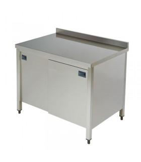 Masă inox cu dulap neutru - lățime 600