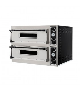 Cuptor electric pizza Basic 44 cu 2 camere, 4+4 pizza de 32cm, ușă cu geam