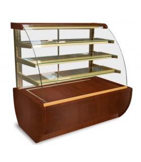 Vitrină frigorifică orizontală cofetărie Jamajka 0.9W, L 1000mm, panouri lemn