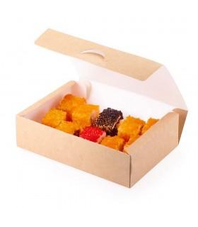 Cutie Alimente 700 ml Biodegradabilă-Reciclabilă, ECO ТABOX NEW 700, 165x115x45 mm, set 100 bucăți