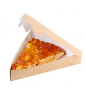 Cutie Placintă / Felie Pizza 800 ml Biodegradabilă-Reciclabilă, ECO PIE 800, 220x200x40 mm, set 100 bucăți