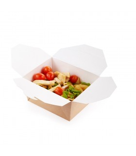 Cutie alimente 600 ml Biodegradabilă-Reciclabilă, ECO FOLD BOX 130x105x64 mm, set 100 bucăți