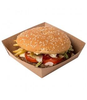 Tavă Biodegradabilă-Reciclabilă Hot Dog și Cartofi Prăjiți, ECO HD, 165x70x40 mm, set 100 bucăți
