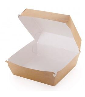 Cutie Hamburger L Biodegradabilă-Reciclabilă, ECO BURGER L, 140x140x70 mm (set 150 bucăți)