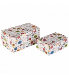 Cutie Fast Food 900 ml Biodegradabilă-Reciclabilă, ECO FAST FOOD BOX L, 150x91x70 mm (set 400 bucăți)