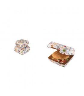 Cutie Burger Biodegradabilă-Reciclabilă ECO BURGER M Enjoy, 115x115x60 mm (set 150 bucăți)