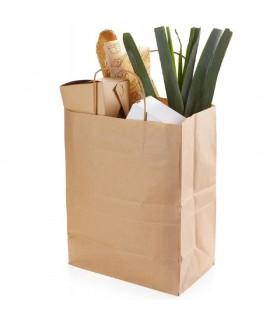 Pungă Hârtie Biodegradabilă-Reciclabilă, ECO CarrBag TW 260, 260x150x350 mm, set 100 bucăți