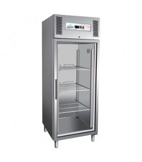 Dulap frigorific inox cu vitrină 650 Litri G-GN650TNG