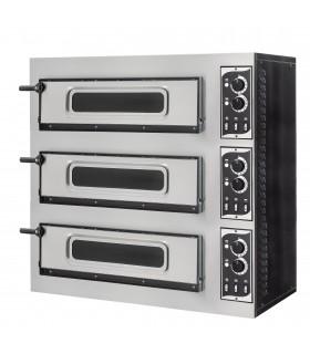 Cuptor electric pizza Basic 3/50 6T cu 3 cameră, 3 pizza 45cm, ușă cu geam, iluminare interioară